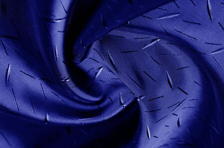 textured, background, drawing, blue silk fabric. The medium-density silk cloth to be recycled has a creped side and a satin side. It is ideal for creating contrasting elements in your design,