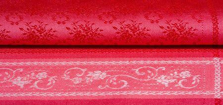 texture background pattern. red fabric This fabric is a tight satin blend of heavy stripes. This is the perfect fabric for your projects. your possibilities are endless 免版税图像