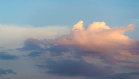 Clouds Cumuliform cloudscape In meteorology, a cloud is an aerosol in the atmosphere of a planetary body.  Water or various other chemicals may compose the droplets and crystals Archivio Fotografico