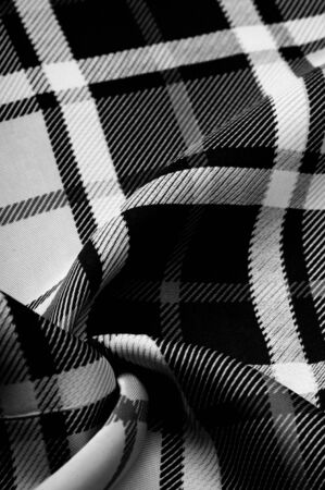Texture, background, pattern, checkered fabric, black and white colors, Scottish motifs in this fabric, your design with the sounds of bagpipes and fragrant whiskey