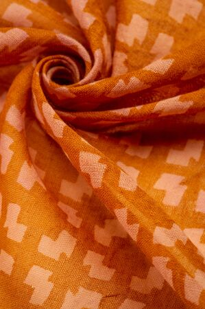 Texture, background, pattern, Orange thin woolen fabric, Abstract pattern, Elastic fabric, Suitable for design, projects and drawings.