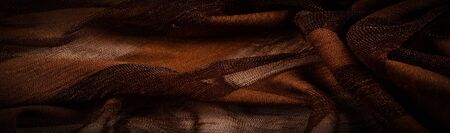Texture, background, design, light transparent silk fabric in brown, Soft-touch material is available in a rainbow of colors to blend with the latest developments of your projects