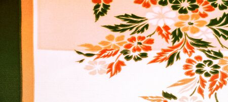 texture, background, pattern, delicate  silk with floral print Exceptionally lightweight pure silk fabric with a delicate texture. Clean, use lining when opacity is desired. Imagens