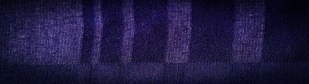 Background texture, decorative ornament, silk blue fabric with stripes trim, to make your design neat or the right size or shape by inserting the desired parts.
