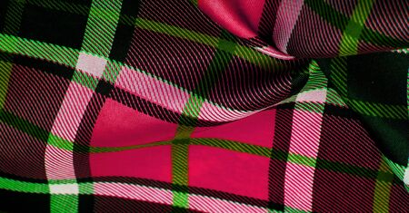 Texture, background, pattern, checkered fabric, red white black green colors, Scottish motifs in this fabric, your design with the sounds of bagpipes and fragrant whiskey