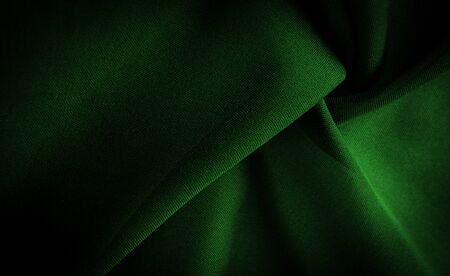 Texture, background, pattern, satin green is a weave that usually has a glossy surface and a dull back, Satin weave is characterized by four or more filler or weft threads, Banque d'images