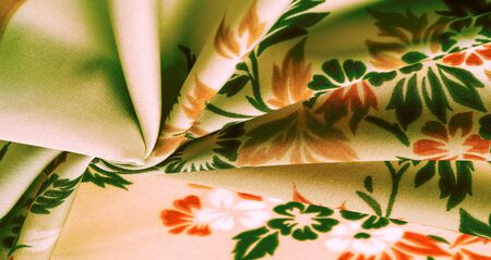 texture, background, pattern, delicate  silk with floral print Exceptionally lightweight pure silk fabric with a delicate texture. Clean, use lining when opacity is desired. Reklamní fotografie
