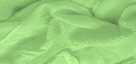Texture, background, pattern, green silk corrugation crushed fabric for your projects Zdjęcie Seryjne