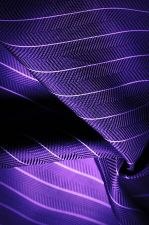 textured drawing, composite textiles, noble lilac blue silk fabric with a thin white stripe, the nature of some ingredients or components; the way the whole or mixture is composed. Stock Photo