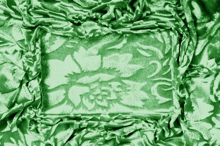 velor green fabric Velvet pattern carved from under an uncircumcised pile of heaps Velvet Burntout Devore this type It's just a beautiful fabric with velvet ornaments in floral and other patterns