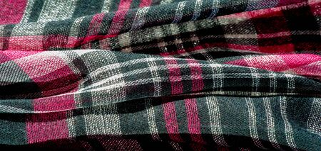 Texture, background, pattern, Scottish culotte fabric, Black red white checkered,