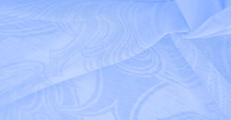 Texture, background, pattern, sensation, cambric - very thin translucent soft mercerized fabric, blue aqua