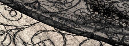 Background, texture, pattern, silk fabric, black lace pattern