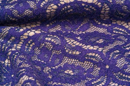 Background texture Template. Warm wool fabric covered with lace fabric. What are you doing with this Millie Thil and blue lace printed silk and wool twill? it would be a great choice for design,