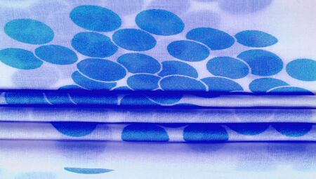 Texture background, blue polka dot patterned silk fabric. Create a fun customization and design. Create designs, postcards, posters and linings. Do not forget the photos for your fun projects! Banque d'images
