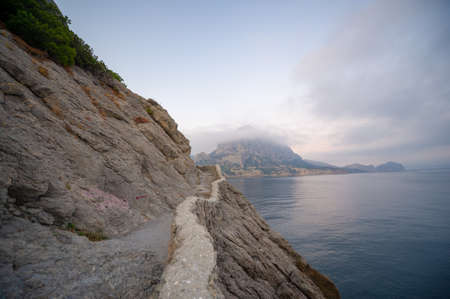 Photos of the Crimean peninsula. The Golitsyn trail originates on the southwestern shore of Green Bay. The trail was erected by order of Prince Golitsyn upon the arrival of Tsar Nicholas II.