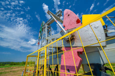 A pumpjack is the overground drive for a reciprocating piston pump in an oil well. The arrangement is commonly used for onshore wells producing little oil. Pumpjacks are common in oil-rich areas