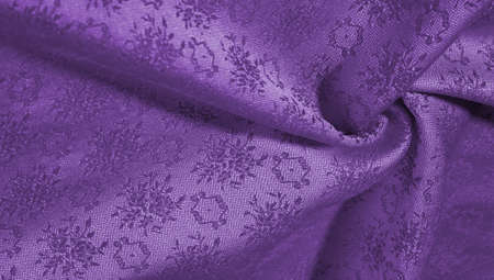 Lilac blue silk fabric. Smooth elegant green silk or satin luxury fabric texture can be used as an abstract background. Luxury background design. Texture, pattern