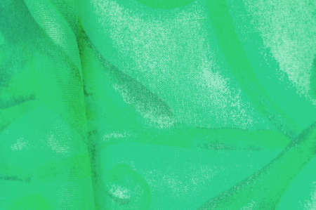 Texture, Pattern. Smooth elegant green fabric texture with abstract green print. luxury as abstract background. Luxury Christmas background. Fabric, delicate. Stockfoto - 168146941