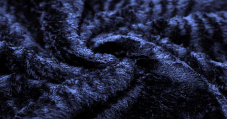 Velvet. Plush. Deep blue. fabric with an even pile, longer and less dense than velvet. Expensive or spectacularly luxurious. luxuriously furnished, rich, dear Standard-Bild