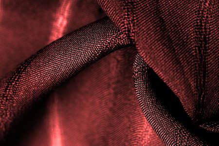 simple red fabric with lines. The lines formed by the extraction of the thread, Texture, background