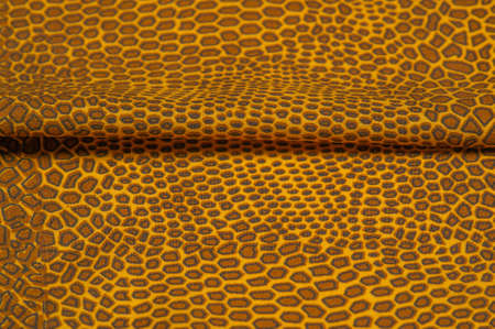 yellow-brown silk fabric, animal skin African theme. All projects are new and developed in our studio by designers with deep knowledge of fabric photography and the use of their final product.