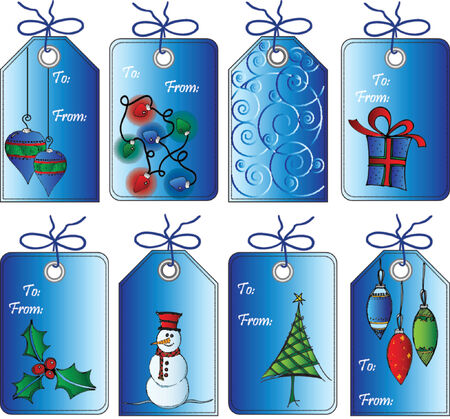 christmas gift: Christmas gift tags Illustration