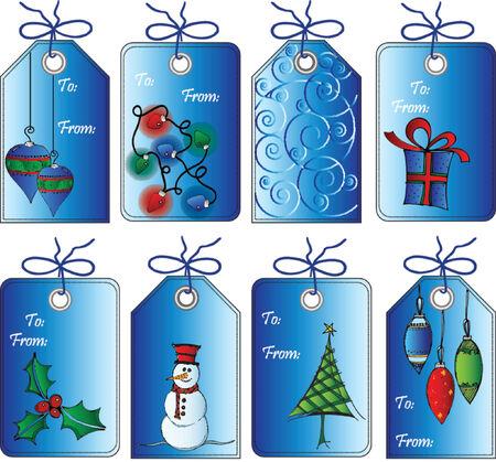 Christmas gift tags Ilustracja
