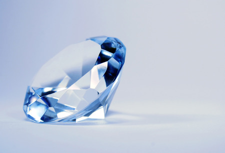 diamond stones: brilliant blue shiny diamond Stock Photo