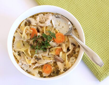 chicken noodle soup: chicken noodle soup Stock Photo