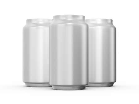 Aluminum cans, isolated on white background. photo