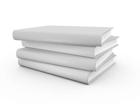 Four realistic blank book cover template, isolated on white background. Stock Photo - 22594346