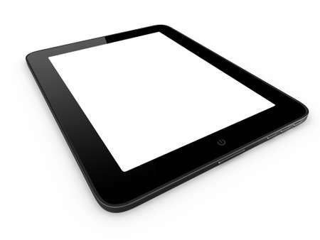 Realistic And Modern Tablet Computer Device With Blank Touch.. Stock ...