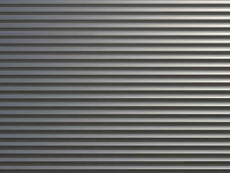 Steel shiny rolling shutter door texture with horizontal lines. photo