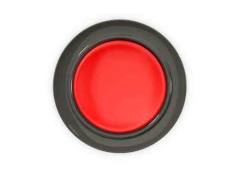 stop button: Top view of blank red button, isolated on white background.