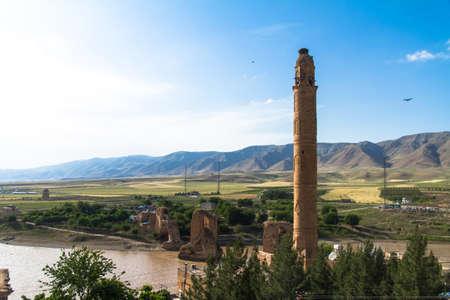 Hasankeyf 마을 Tigris 강, 배트맨, 터키에. 스톡 콘텐츠