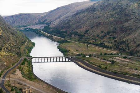ataturk: Ataturk Dam on the Euphrates River in Anatolia, Turkey.