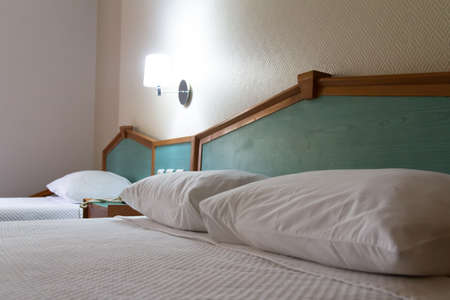 Interior of modern hotel bedroom. Stock Photo - 22721345