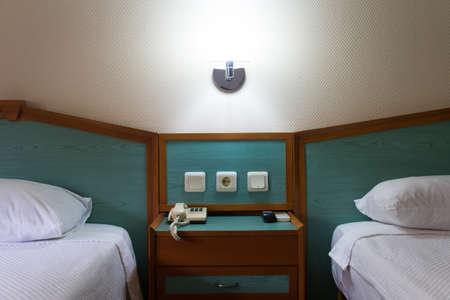 Interior of modern hotel bedroom. Stock Photo - 22721346