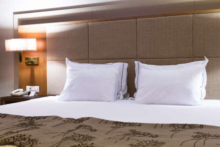 Interior of modern hotel bedroom. Stock Photo - 22721410