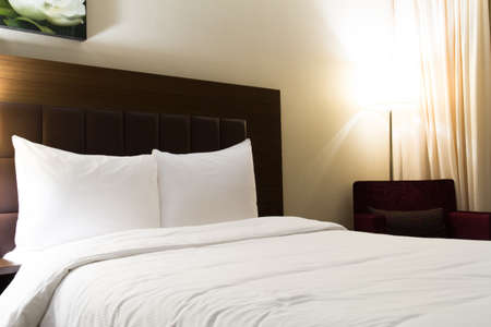 Interior of modern hotel bedroom. Stock Photo - 22721439