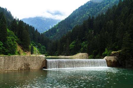 long lake: Long Lake, Uzungol in Trabzon, Turkey.