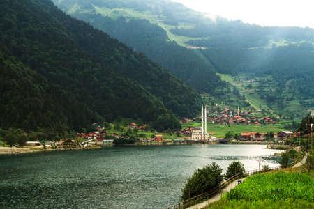 긴 호수, 트라 브존, 터키 Uzungol. 스톡 콘텐츠