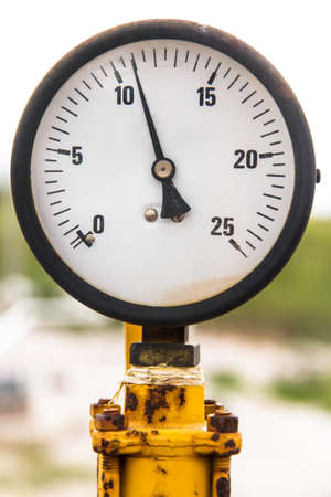aneroid: Old barometer with depth of field.
