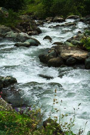kackar: Stream with stones on Demirkapi Plateau, Kackar Mountains, Trabzon, Turkey.