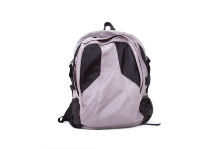 Front view of backpack bag, isolated on white background. photo