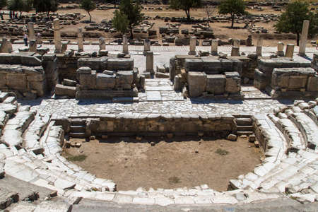 teatro antiguo: Antiguo teatro de �feso, Turqu�a. Foto de archivo