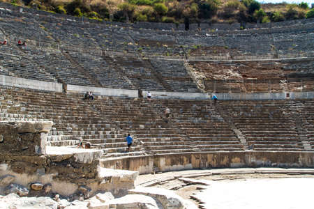 teatro antiguo: Antiguo teatro de �feso, Turqu�a. Editorial