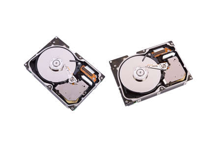 portable hard disk: Close up view of two hard disks.