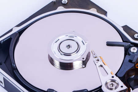 portable hard disk: Close up view of hard disk.